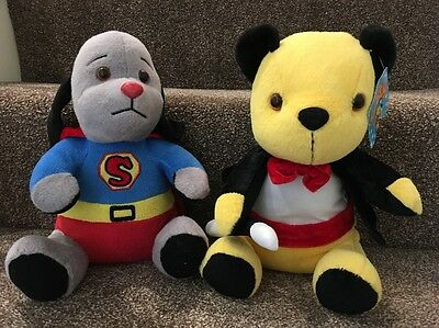 """Sooty and Sweep Plush Toys Teddies Magician Sooty Super Sweep. 11"""""""