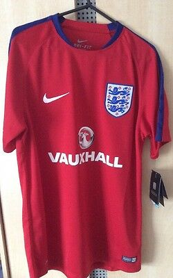 Mens England Flash Shirt - Red - Nike - M - New With Tag