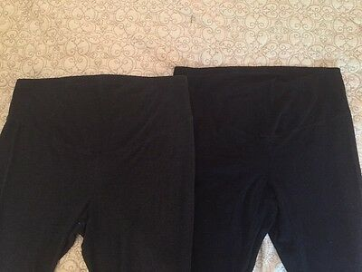 Lot Of 2 Old Navy Maternity Leggings Size Large