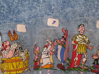 Verre Moutarde   Lot 3 Verres Asterix 1968