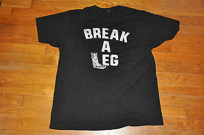 Foo Fighters Break a Leg Concert Tee Shirt Black - Broken Leg Tour Mens Large L