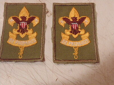 2 Vintage Boy Scouts Of America Embroidered Patchs.be Prepared.