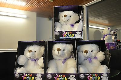 "Super Soft Cuddly Glow Teddy Bear 22"" Light up Colour Changing Night Light NEW"