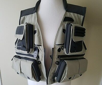Simms G3 Guide Vest Khaki XL Fly Fishing Vest New with Tags