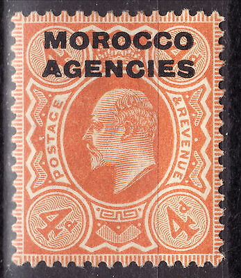 Great Britain Offices Abroad Morocco 1907/1912 4p MH Scott 205