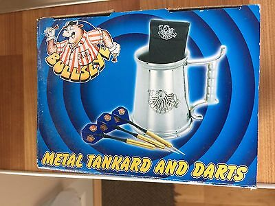 Bullseye TV Show Metal Tankard And Darts 1980s TV Show Collectable. Contestants.