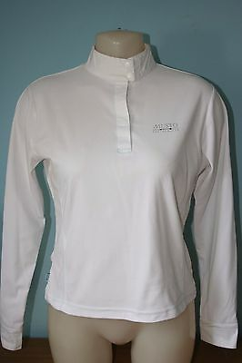 Musto Performance Innovation Horse Equestrian Competition Shirt Size 12 White