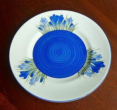 Clarice Cliff Blue Crocus pattern side Plate - Wedgwood