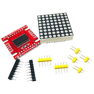 LED Dot Matrix Parts Microcontroller Serial Dot Matrix for Arduino DIY Kit