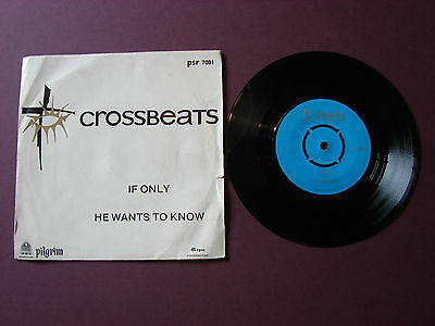 """The Crossbeats If only/He wants to know 7"""" Single Record 1965 PSR7001 Gospel"""