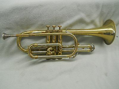 Vintage Cornet REYNOLDS MEDALIST Made in USA with case