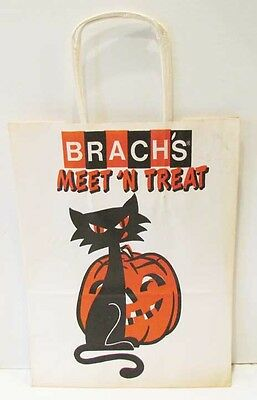 Brach's Vintage Halloween Meet 'n Trick Or Treat Candy Bag Black Cat Jol