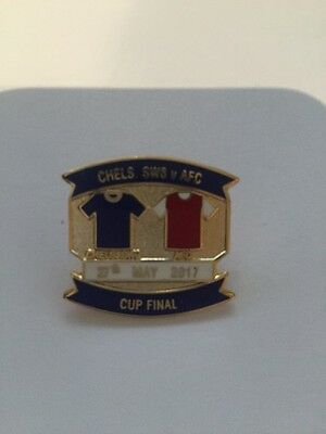 FA Cup Final Pin Badge Arsenal v Chelsea