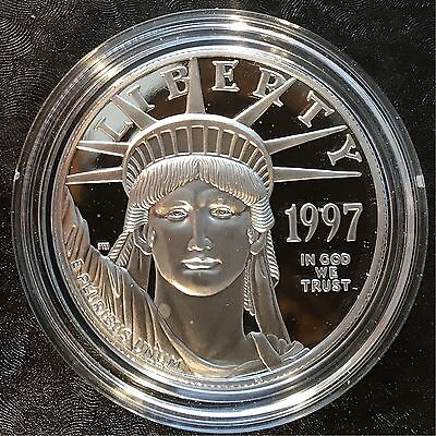 1997-W $100 Platinum American Eagle 1oz PROOF with ALL PACKAGING
