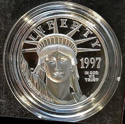 1997-W $50 Platinum American Eagle 1/2oz PROOF with ALL PACKAGING