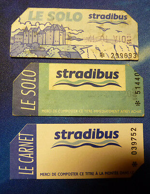 Anciens Tickets Bus EPERNAY (Stradibus)