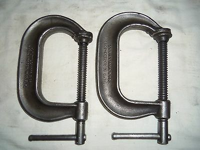2 Williams USA No. 403 Heavy Duty Dropped Forged C-Clamps