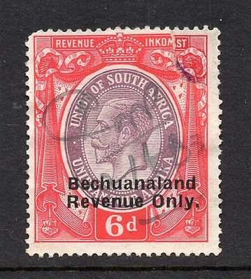 1932 Bechuanaland Bft48 6d Purple & Red Narrow Spacing Revenue O'print.