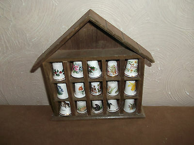 China Thimbles X 15 In Wood Display House