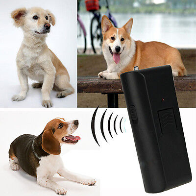 Dog Pet Barking Stopper Deterrent Train Anti-Bark Ultrasonic Aggressive Repeller