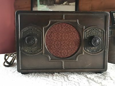 Antique RCA Victor R17-M Metal Tube Radio 1930s Original Untouched