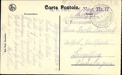 Ak Stempel Feldpostexped. K.B. 6. Reserve Division, Res. Inf.... - 1403355
