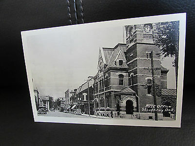 Vintage Strathroy Post Office Ontario Canada Post Card Photogelatine Engraving