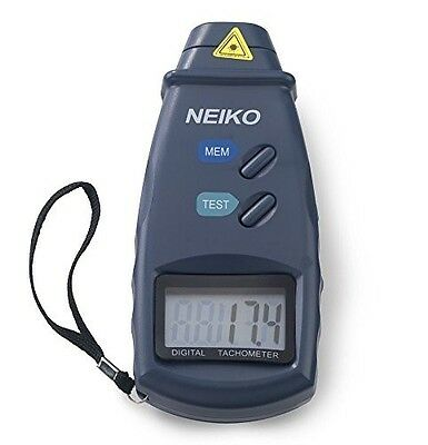 Neiko 20713A Digital Tachometer, Non-contact Laser Photo | 2.5 - 99,999 RPM Accu
