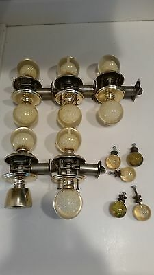 Lot of Vintage Mid Century Modern Weiser Acrylic Door Handles and Drawer pulls