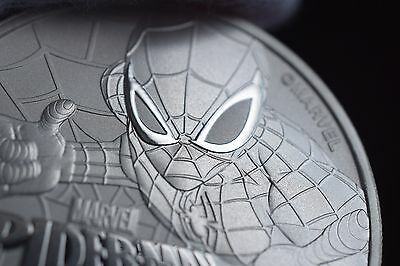 2017 1 oz Tuvalu Spiderman Marvel Series Silver Perth Mint Coin with capsule