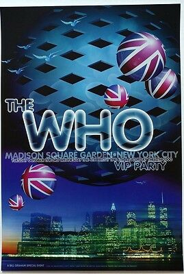 The Who Msg, Ny 10/3-7/2000 Poster Nm+
