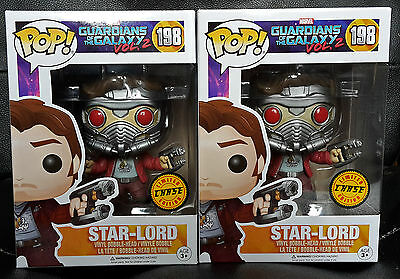Brand New Funko Pop Guardians Of The Galaxy 2 Star-Lord #198 Chase Limited