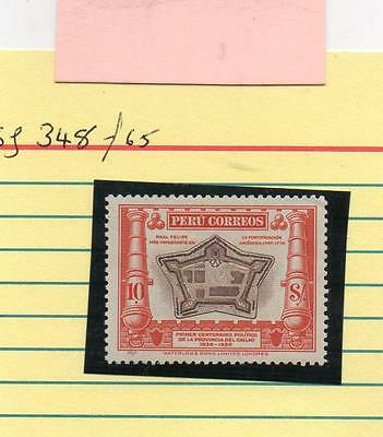 PERU Stamps  1936 10 solus red/brown scarce cat £65 Mint Fort Real Felipe