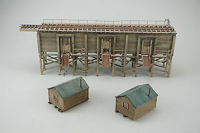 Sn3 Scale Unknown Model Building Coal Trestle w/ 2 Small Sheds/Offices Wood NICE