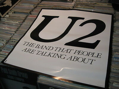 Vintage U2 Original Poster Early Promotional Band People Talk About 1980 Island