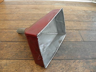 Large Vintage rectangular Funnel metal classic car Industrial Prop tractor