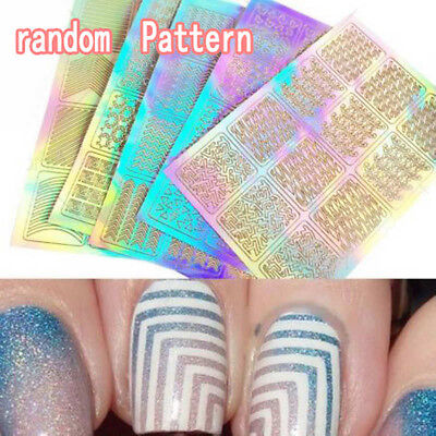 3 Sheet Nail Art Transfer Stickers 3D Design Manicure Tips Decal Decoration