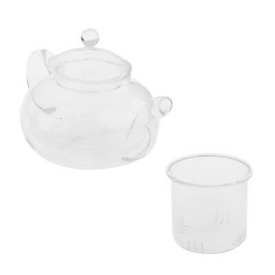 Clear Glass Tea For Tea Pot, Cup and Strainer Herbal Teapot Set - 400ml