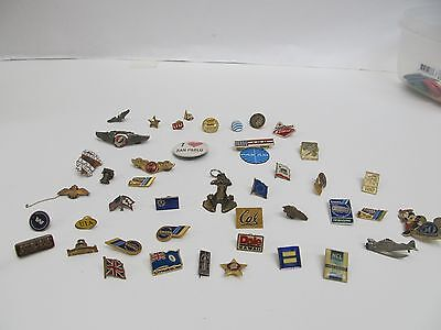 Lot Of 45 Various Pins + Pan American Airlines Magnet