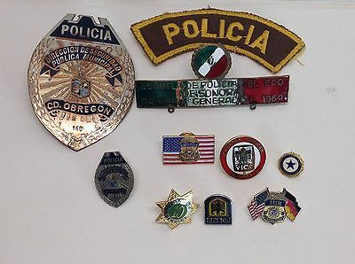 Mixed Lot of Police Sheriff Lapel Pins and Mini Badges Inc Federal Policia badge