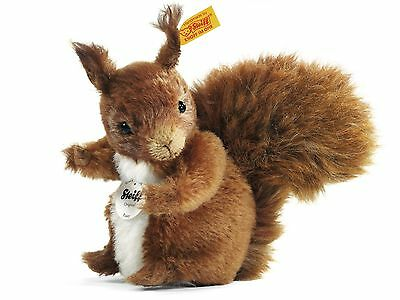 Steiff Possy Squirrel, open edition yellow tag piece, new, EAN 072147