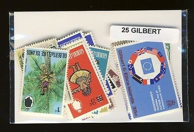 Iles Gilbert - Gilbert Islands 25 timbres différents