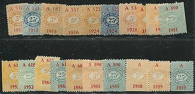 Canada Revenue Tbt Collection Remainder 20 Stamps 1913/1959