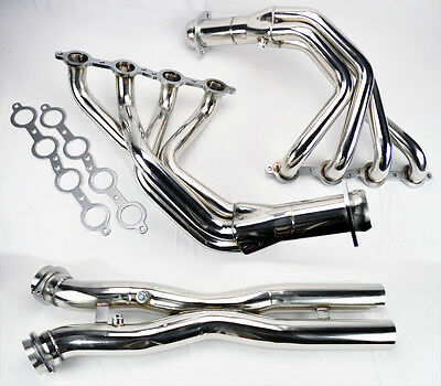 Chevy Corvette 2005-2013 C6 LS2 LS3 Stainless Exhaust Headers Manifolds & X Pipe