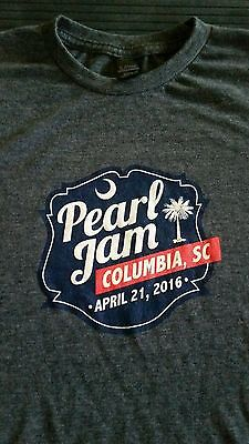 Pearl Jam 2016 Tour Shirt Columbia SC 4/21 April 21 T-shirt size XL - FREE shipp