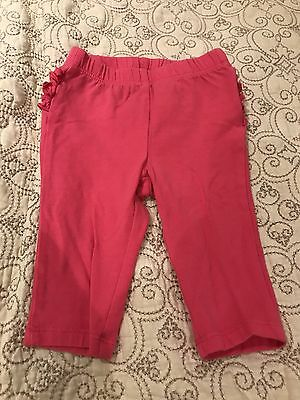 Old Navy Baby Girl Pink Ruffle Butt Leggings ~ Size 3-6 Months
