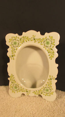 """Andrea by Sadek Porcelain Picture Frame~Frame 3.5x5""""-Opening2.5x3.5""""~Green #9303"""