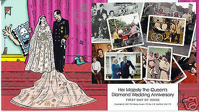 2007 Diamond Wedding M/S - Phil Stamp Official - SIGNED by STEVE OLIVER !