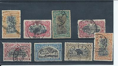Belgian Congo stamps 1920 air set used. (Z588)