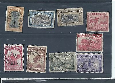 Belgian Congo stamps   Small used lot..  (Z580)